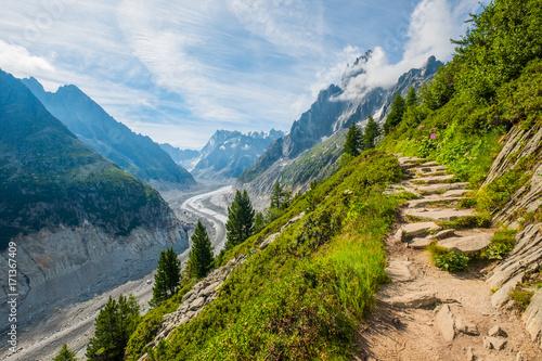 Foto auf Gartenposter Gebirge Mer de glace