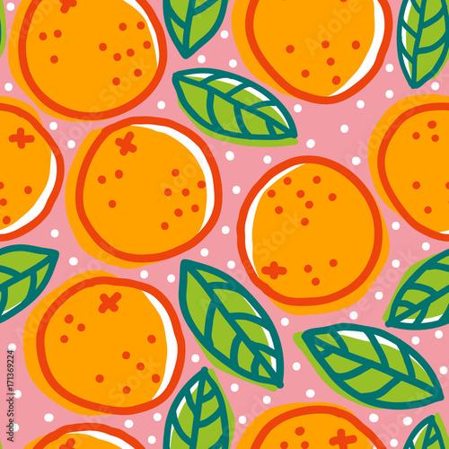 retro-wzor-z-pomaranczami
