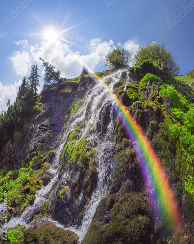 Wild waterfall Marmarosh - 171395633
