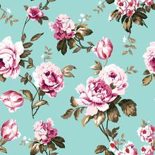 Shabby Chic Vintage Roses Seam...