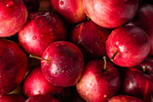 Red Apples Background, Pile Of...