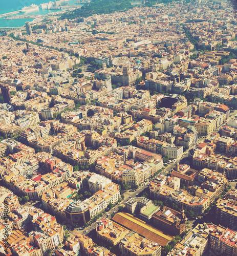 Plakat Obszar mieszkaniowy Barcelony w Hiszpanii