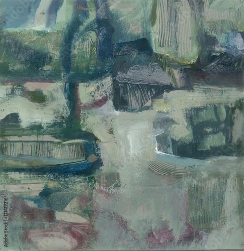 Keuken foto achterwand Olijf landscape in February