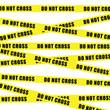 do not cross tape illustration