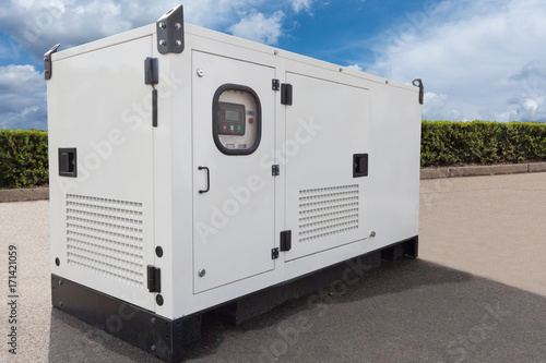 Fotografiet Mobile diesel generator for emergency electric power