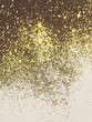 canvas print picture - Beautiful blurry golden background with glitter