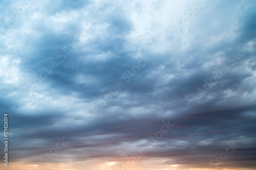 Canvas Prints Heaven Clouds at sunset as background