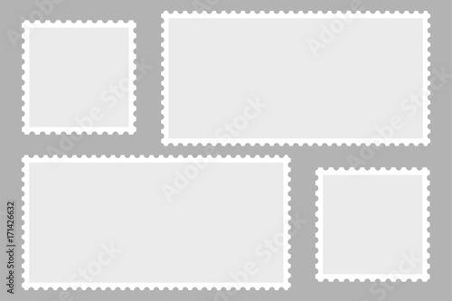Fotografía  Blank Postage Stamps