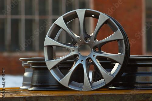 Close up of rims car alloy wheel Wallpaper Mural