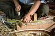 Myanmar (Burma), Shan, Pindaya, Herstellung von Sonnenschirmen