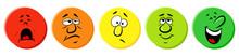 Rating Icons Als Farbtupfer Mi...