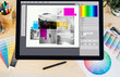 canvas print picture - tablet pro typesetting software