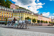 Karlovy Vary At Summer Daytime...