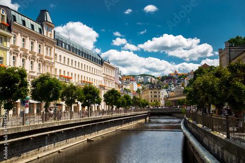 Obraz na plátně  Karlovy Vary at summer daytime. Czech Republic