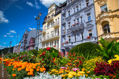 Canvas Print Karlovy Vary at summer daytime. Czech Republic