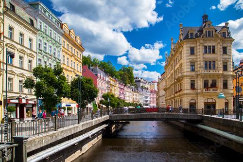 Fotografie, Obraz  Karlovy Vary at summer daytime. Czech Republic