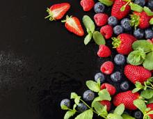 Ripe Red Raspberries And Straw...