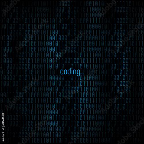 Fototapeta Coding abstract background
