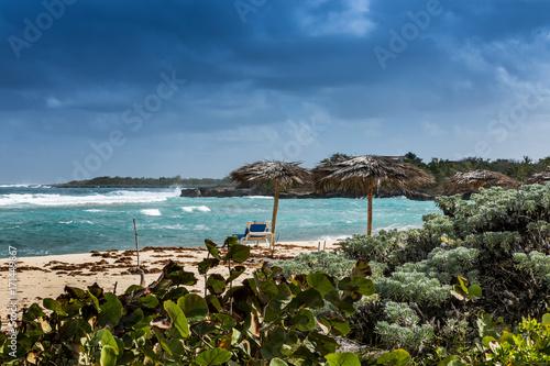 The beautiful Ocean beach and coast of Rafael Freyre, Holguin, Cuba Wallpaper Mural