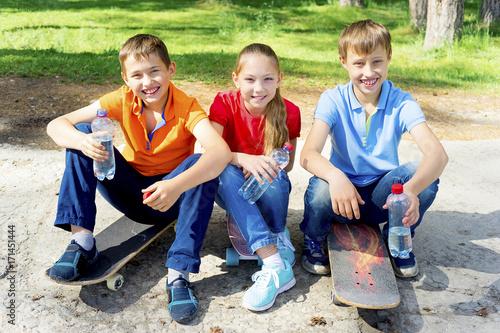 Plakat Aktywne skateboarding dla dzieci