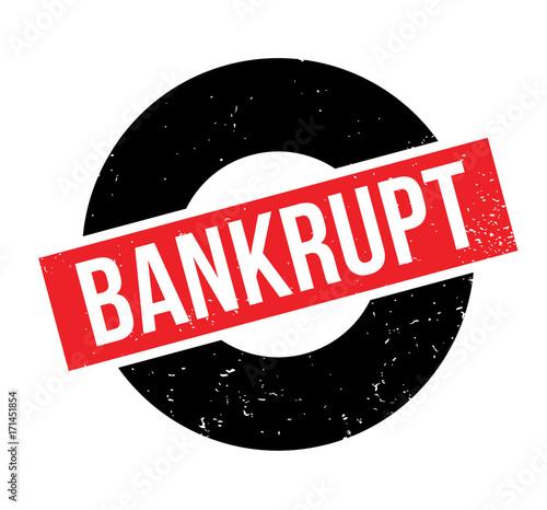 Photo Bankrupt rubber stamp