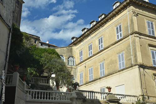 Staande foto Las Vegas Maisons dans la ville de Cervioni en Corse