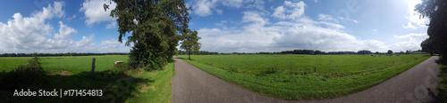 Fototapeten Natur panorama platteland