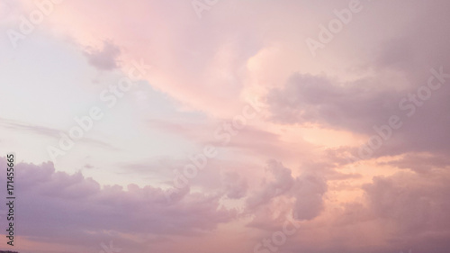 Tuinposter Herfst the sky at sunset. pink clouds