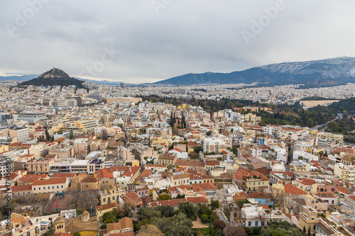 Recess Fitting Athens Panorama of Athens and Lycabettus Hill in the background, Athens, Greece