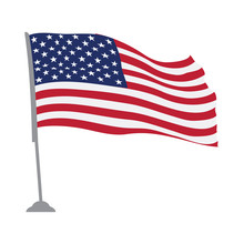 Isolated Flag Of The United St...