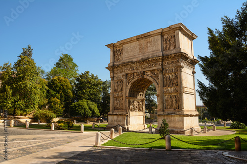 The Arch of Trajan in Benevento (Italy) Canvas Print