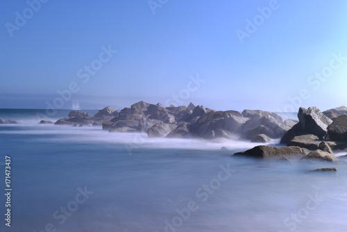 Fotobehang Antarctica long exposure shot on manhattan beach at los angeles, USA