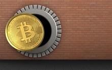 3d Bitcoin Over Red Bricks