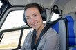 portrait of woman helicopter pilot