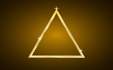 Luxury Shiny Gold Triangle Background - Geometric Wallpaper