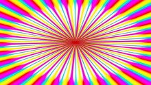 Animated Illustration Of Bright Colorful Spirals Rotating On White Background