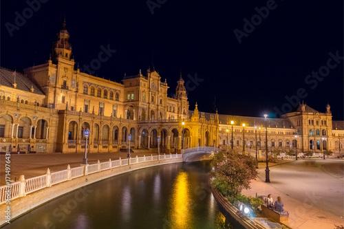 Deurstickers Krakau Plaza de España Sevilla