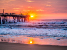 Sunrise Over Fishing Pier At N...