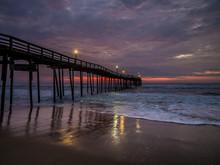 Sunrise Over Fishing Pier At N...