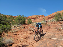Mountain Biker In The Red Rock...