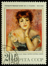 Portrait Of Actress Jeanne Samary By Renoir