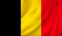 3D Waving Flag Of Belgium. Vec...