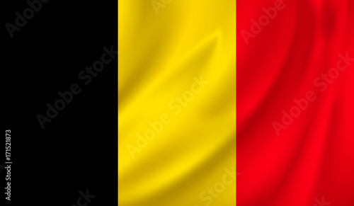 Fotografía 3D Waving Flag of belgium. Vector illustration