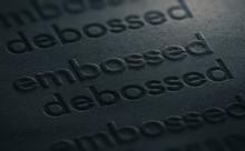 Emboss Versus Deboss