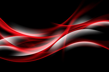 Red Glowing Waves Background