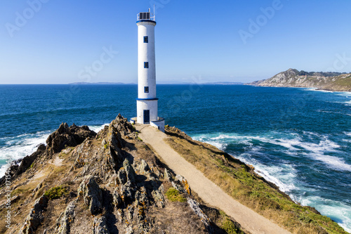 Photo Stands Lighthouse Lighthouse at Cabo Home, an iconic cape in Cangas, Pontevedra, Galicia, Spain