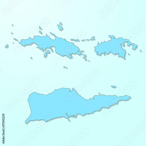 US Virgin Islands VI blue map on degraded background vector – kaufen ...