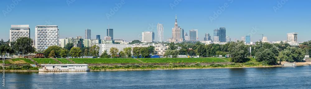 Fototapety, obrazy: Warszawa, panorama miasta