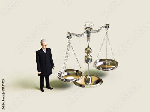 Fotografie, Obraz 裁判官と天秤