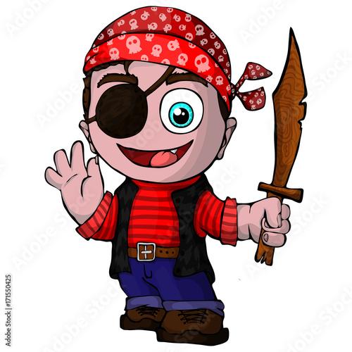 Fototapeta Kreskówka pirat